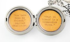 Charlotte's Web Quote  Women's Locket  You by busybeezchickadeez, $32.00