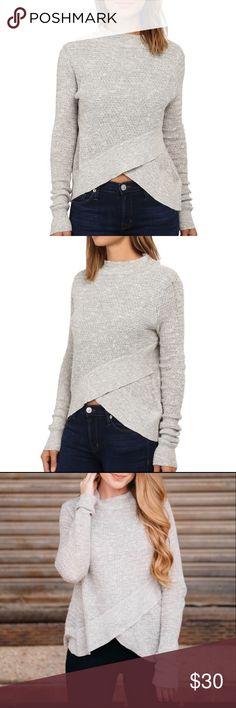 ef26e83f32906 Free People Boho Wrap Heather Grey Sweater New W  Out Tags Free People Boho  Wrap Heather Grey Sweater linen