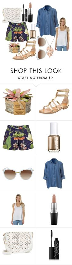 """""""Tropical day out"""" by workie-e1901 on Polyvore featuring Seychelles, Penfield, Essie, Swell, MAC Cosmetics, Under One Sky, NARS Cosmetics and LE VIAN"""