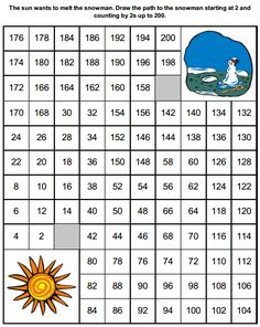 Spring counting by 2s worksheet