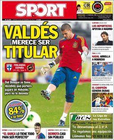 Los Titulares y Portadas de Noticias Destacadas Españolas del 6 de Septiembre de 2013 del Diario Sport ¿Que le pareció esta Portada de este Diario Español?