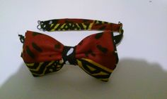 Handmade African Print Fabric, Adjustable Bow Tie