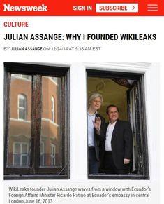 "2014 Dec Book Excerpt ""Why I founded WikiLeaks"" Affair, Presentation, Culture, Books, Writing, Livros, Libros, Livres, Book"