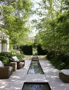 34 creative garden ideas and landscaping tips 13 Water features in the garden, Garden architecture, Modern Landscape Design, Modern Landscaping, Backyard Landscaping, Landscaping Ideas, Backyard Layout, Country Landscaping, Modern Design, Contemporary Garden Design, Backyard Plants