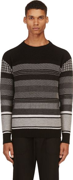 Diesel Black Gold - Black Striped Kollaudo Sweater