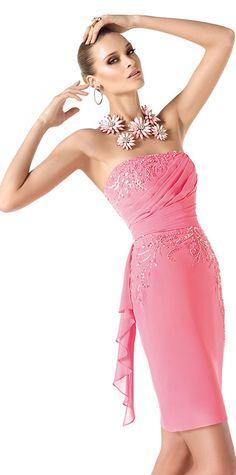 Fii sexy si stralucitoare in rochii de cocktail Pronovias Prom Dress 2013, Dresses 2013, Short Dresses, Red Bridesmaid Dresses, Prom Dresses, Formal Dresses, Wedding Dresses, The Dress, Pink Dress