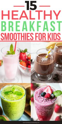 Easy Smoothie Recipe for Kids! My kids are picky eaters & they love starting the day with this healthy superfood smoothie recipe! It's loaded with fruit & veggies and tastes delicious! Perfect way to get your kids to eat healthy! Smoothie Recipes For Kids, Healthy Breakfast Smoothies, Easy Smoothies, Eat Healthy, Kids Eating Healthy, Smoothies With Veggies, Smoothies For Toddlers, Healthy Recipes For Toddlers, Smoothie Recipes Meal Replacement