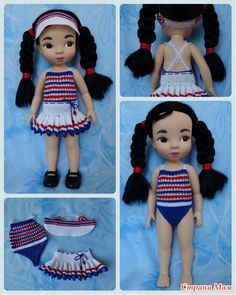 Crochet Swimsuit & Skirt / Disney Animator Doll