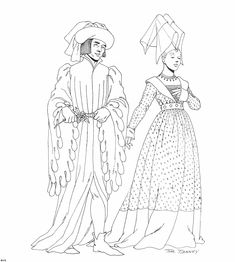 Mega Coloring Pages * 45 middle ages clothing coloring pages Middle Ages Clothing, Medieval Fashion, Coloring Book Pages, Historical Costume, Art Plastique, Colorful Pictures, Fashion History, Women's Fashion, Colorful Fashion