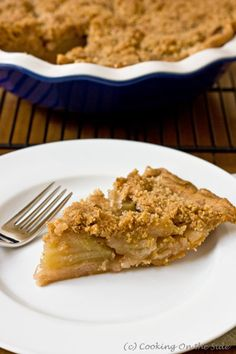 French Apple Pie...get the easy recipe at www.cookingontheside.com #thanksgiving #holiday #pie