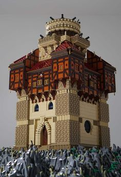 moc-the-lego-castle-of-captain-sabertooth-pirate-mocs-eurobricks-forums/ - The world's most private search engine Lego Moc, Lego Minecraft, Minecraft Ideas, Lego Lego, Lego Castle, Legos, Chateau Lego, Lego Burg, Lego Universe