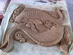 Mermaid Sculpture, Fish Sculpture, Ceramic Pottery, Ceramic Art, Plaster Crafts, Clay Fish, Ceramic Lantern, Pottery Designs, Pottery Ideas