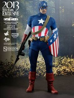 Captain America Star Spangled Man Figure from Captain America The First Avenger, Hot Toys MMS205 Captain America Star Spangled Man Figure from Captain America The First Avenger. It is made by Hot Toys and is 1:6 scale (approx. 30cm / 11.8in high).    'The Star Spangled Man with a Plan.' From Captain America's memorable performance in Captain America: The First Avenger, Hot Toys and Sideshow Collectibles are proud to introduce the Captain America (Star Spangled Man Version) Limited Edition…