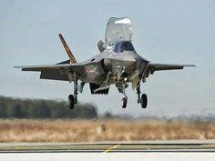 F-35 touching down