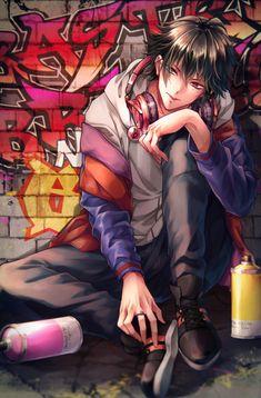 Hypnosis Mic, Ichiro Yamada / 一 / October 2018 - pixiv Dark Anime Guys, Cool Anime Guys, Handsome Anime Guys, Hot Anime Boy, Anime Art Girl, Anime Boys, Manga Boy, Manga Anime, Anime Devil