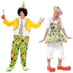 Pareja Disfraces de Payasos #parejas #disfraces #carnaval