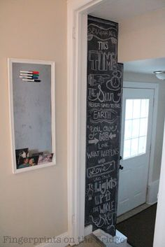 i have the perfect wall for this chalkboard art