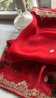 Cotton Saree Designs, Half Saree Designs, Saree Blouse Designs, Bandhani Dress, Sari Dress, Baby Baptism, Baptism Dress, Indian Wedding Outfits, Indian Outfits