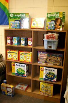 Basement Kids Playroom Toy Organization