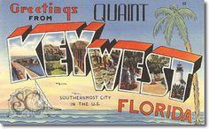 vintage postcards | Vintage Greetings From Vintage Postcards New Jersey, Florida