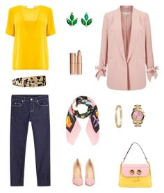 """Midweek inspiration 💛💖"" by raquel-c-macias on Polyvore featuring J.W. Anderson, MICHAEL Michael Kors, Christian Louboutin, Alexander McQueen, Warehouse, Gucci, Miss Selfridge, Finn, Cartier and Charlotte Tilbury"
