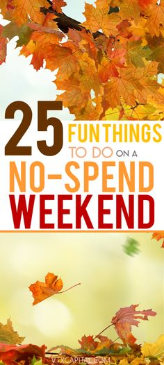 No Spend Weekend Ideas | How to Save Money | Fun Weekend Ideas | Frugal Tips | How to Stop Spending Money