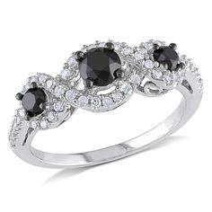 <li><a href='http://www.overstock.com/downloads/pdf/2010_RingSizing.pdf'><span class=links>Click here for Ring Sizing Chart.</span></a></li><li>Black and white diamond ring</li><li>Jewelry is crafted of 10-karat white gold</li><li>Gift box included</li>