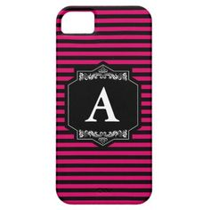 Layer iPhone IF  iPhone 5 Pink Stripes Monogram iPhone SE/5/5s Case - stripes gifts cyo unique style