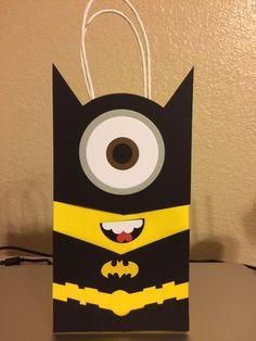 Batman Minion Punch Art Party Favor Bag