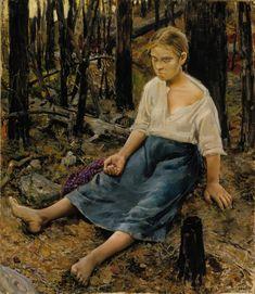 Akseli Gallen-Kallela, Lost, 1886, Oil on canvas, 85 x 74 cm, Finnish National Gallery, Helsinki