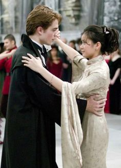 Cedric Diggory and Cho Chang at the Yule Ball. #GobletofFire #Christmas #EdwardCullen