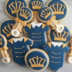 Baby Shower Prince Theme Sugar Cookies Sugar by AujanesSweetsLLC