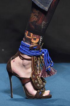 Calçados da Semana de Moda de Milão.