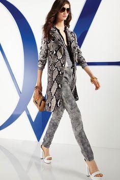 Diane von Furstenberg Resort 2014 Fashion Show - Model Manon Leloup