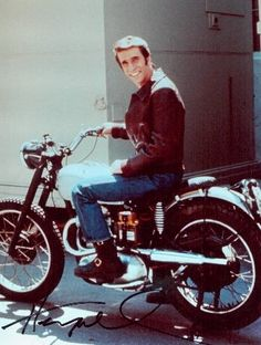 Fonzie and motorcycle