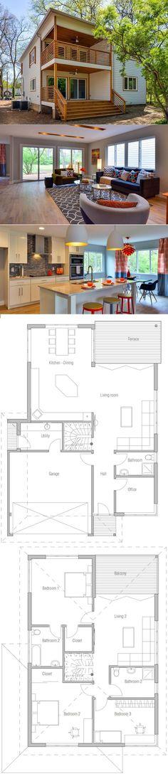 Modern House Plan, Home Plan - #architecture