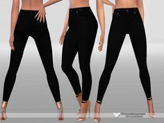 Super sexy skinny ,slim fitting black jeans.  Found in TSR Category 'Sims 4 Female Everyday'