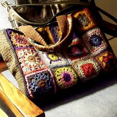 ao with <3 / use-all-you-have Granny Square Tote