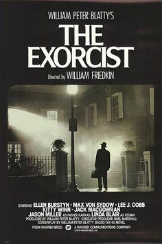 This movie poster is a perfect teaser for this particular film. There is a lot of darkness and a little bit of light shining through signifying the battle between good and evil which this priest, who is standing there with his briefcase, must endure. It also tells the audience that whatever is about to happen inside that house, is not good.