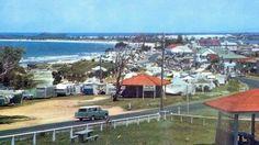 Efforts to add the Mooloolaba Caravan Park to Queensland's Heritage Register have begun. Gold Coast Queensland, Holden Australia, Rock Pools, Sunshine Coast, Old Photos, Dolores Park, Surfing, Campers, Heartland
