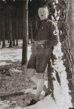 Der Führer mit Shorts.