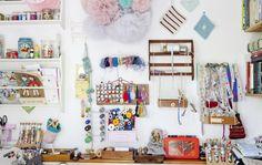Enjoy creative chaos - See this inspiring home craft studio.