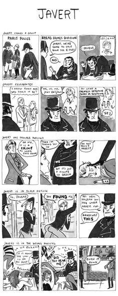 """Javert  """"Hark! A Vagrant"""" by Kate Beaton- I have tears of laughter streaming down my face!!!!"""