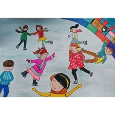 Winter Sports, Art Lessons, Art For Kids, Disney Characters, Fictional Characters, Snoopy, Classroom, Teaching, Children