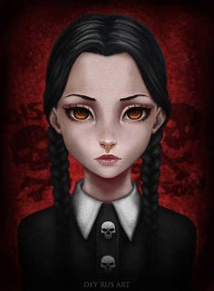 Wednesday Addams Fan Art by DeyRus on DeviantArt