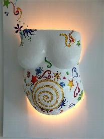 Lampenvarianten - Gipsabdruck,Bauchmaske,Babybauch,