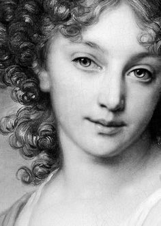 la-petite-queen: 1799 Vladimir Borovikovsky (Russian; 1757-1825) ~ Portrait of Elena Aleksandrovna Naryshkina, Serene Princess of Italy, Countess Suvorov-Rymniksky (1785-1855); detail of black and white engraving from the portrait