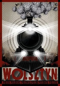 Polish poster designed by artist Ryszard Kaja to promote tourism to Poland. It has now been turned into a post card size Art Deco Posters, Type Posters, All Poster, Vintage Posters, Film Posters, Train Illustration, Polish Films, Visit Poland, Train Posters