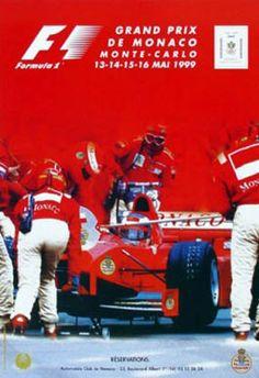 #monaco #grandprix poster 1999 Winner: Michael Schumacher / Ferrari Find all the Grand Prix of Monaco official products in partnership with the Automobile Club of Monaco, as well as web exclusives! http://monaco-addict.com