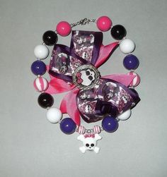 Kids Monster High Inspired Skull Chunky Bubblegum by Suzyq203, $22.50